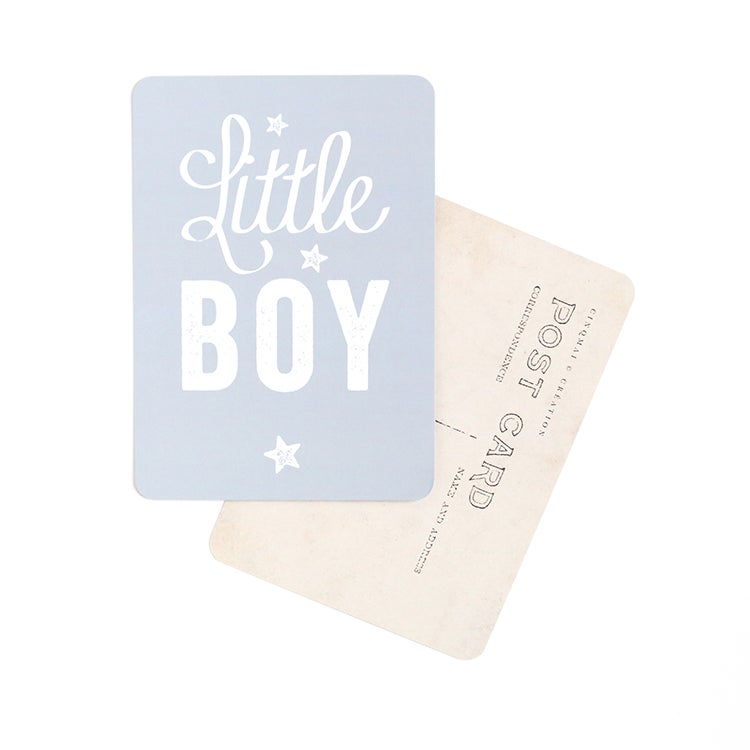Image of Carte Postale LITTLE BOY / STAR / GRIS BLEU