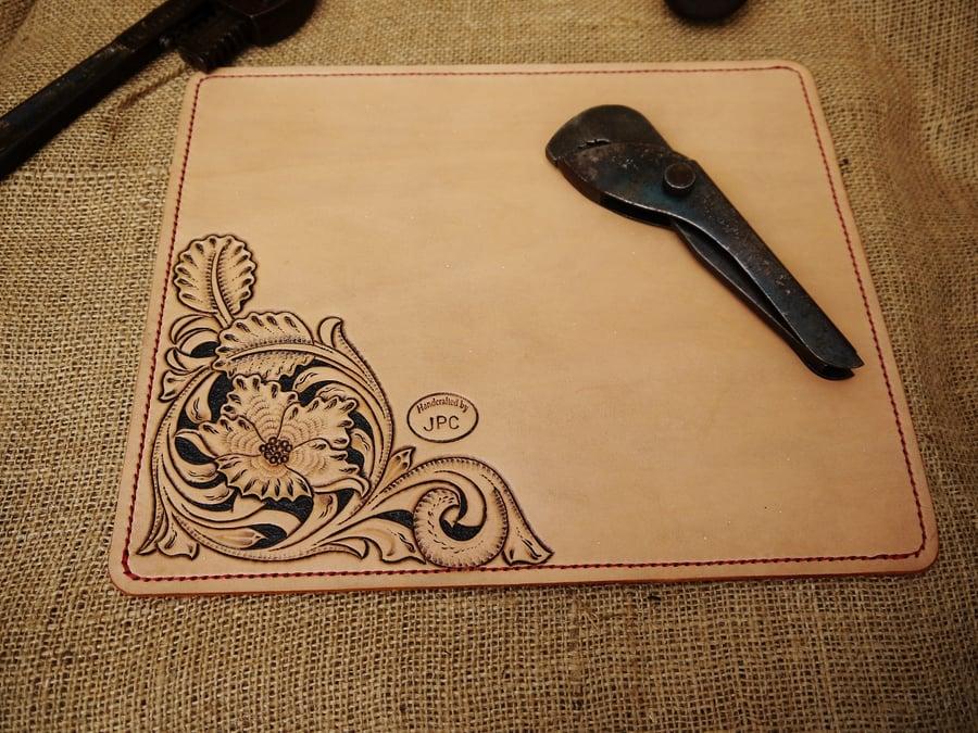 Image of Argyll - Hand Carved Desk Mat