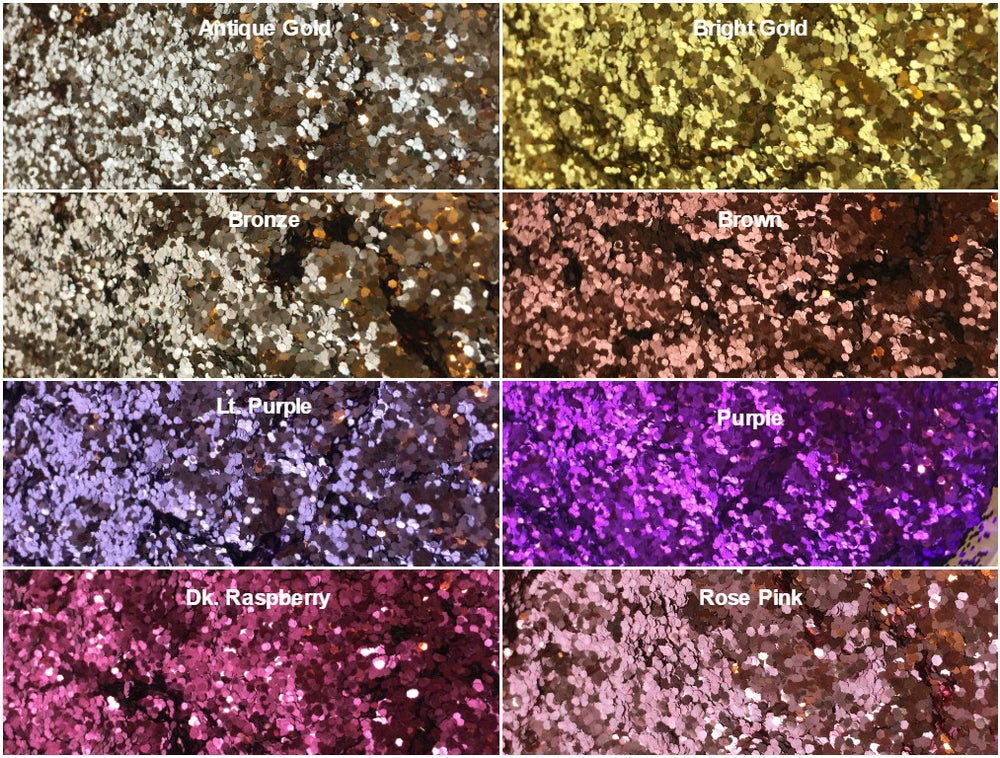 Image of Metallic Hex Glitter .040""