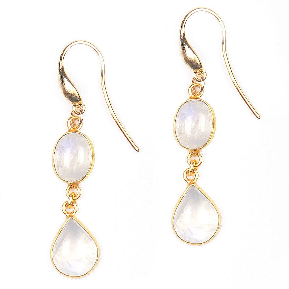 Image of MOONSTONE DROP EARRINGS