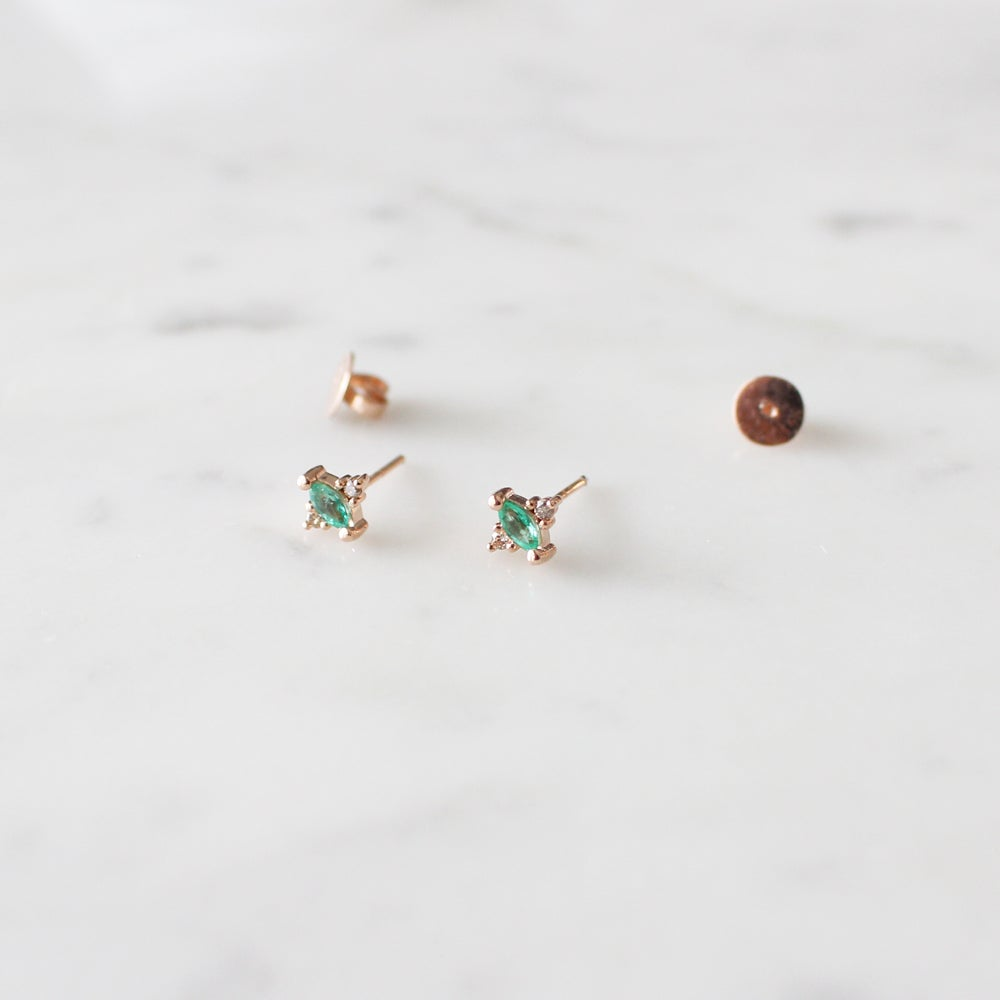 Image of Renee Emerald Earring