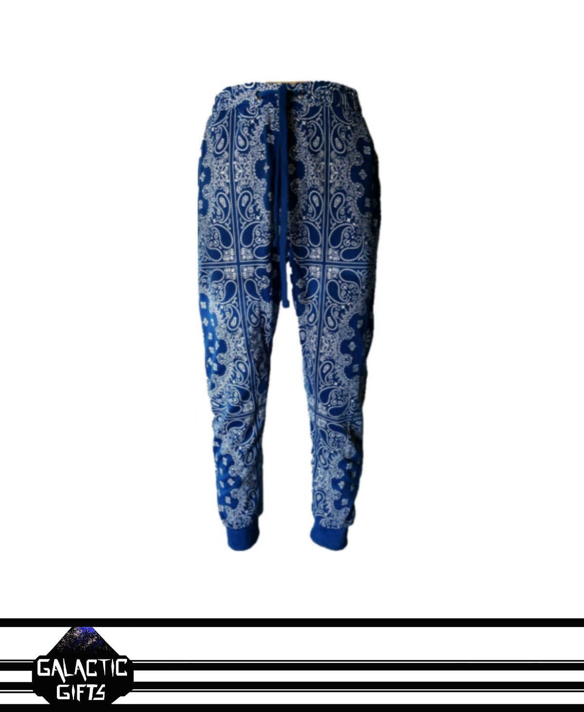 Image of Victorious Blue Paisley Jogger Pants