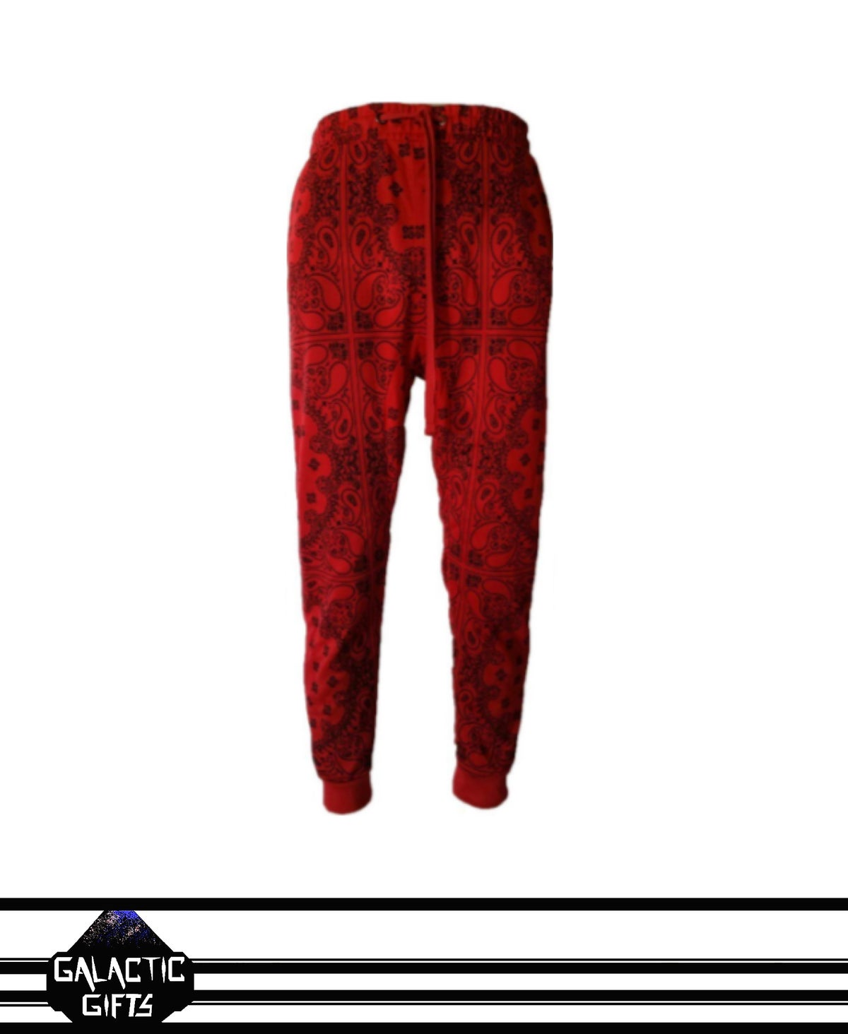 Image of Victorious Red Paisley Jogger Pants