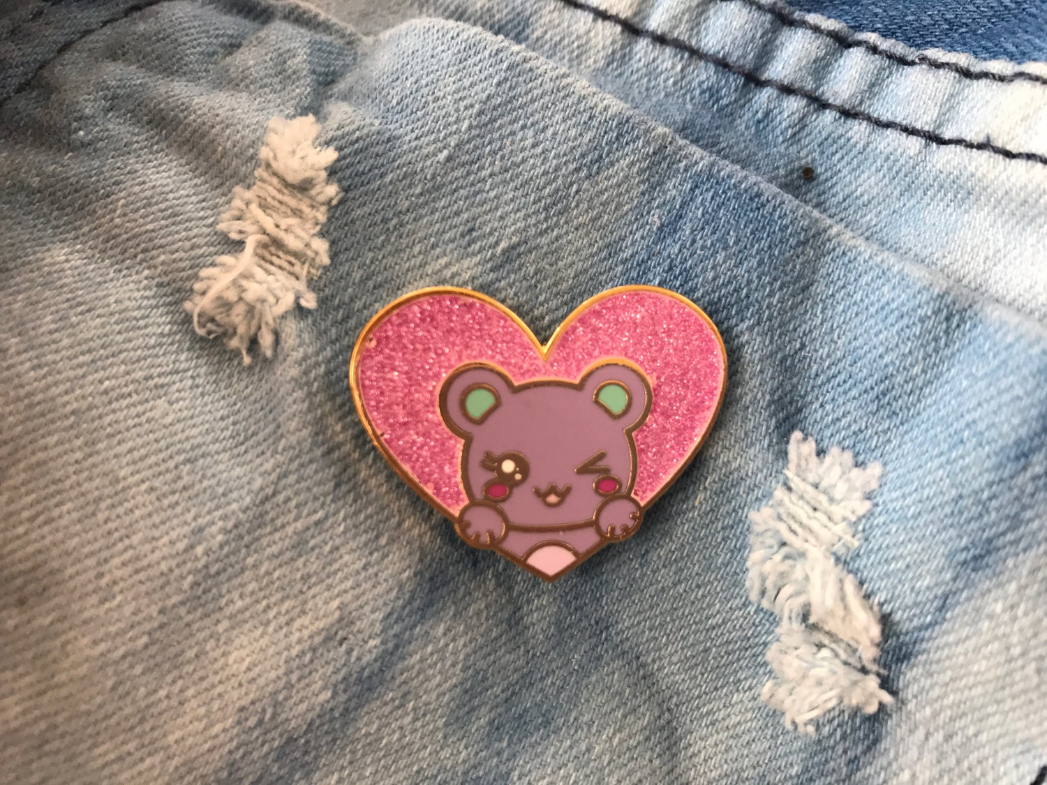 Image of Glitter Bear Heart v. 1