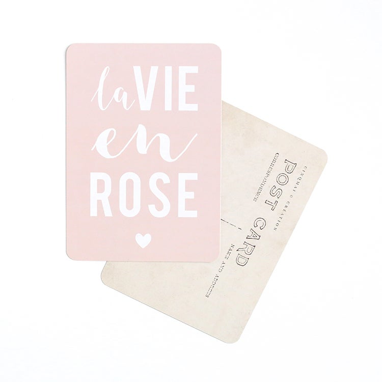 Image of Carte Postale LA VIE EN ROSE / ROSE POUDRE