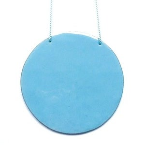 Image of Circle pendant sky blue