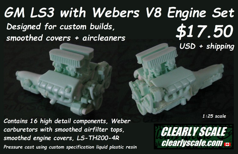 Image of GM LS3 with Webers V8 Engine Set (fits Hurst Olds + custom builds)