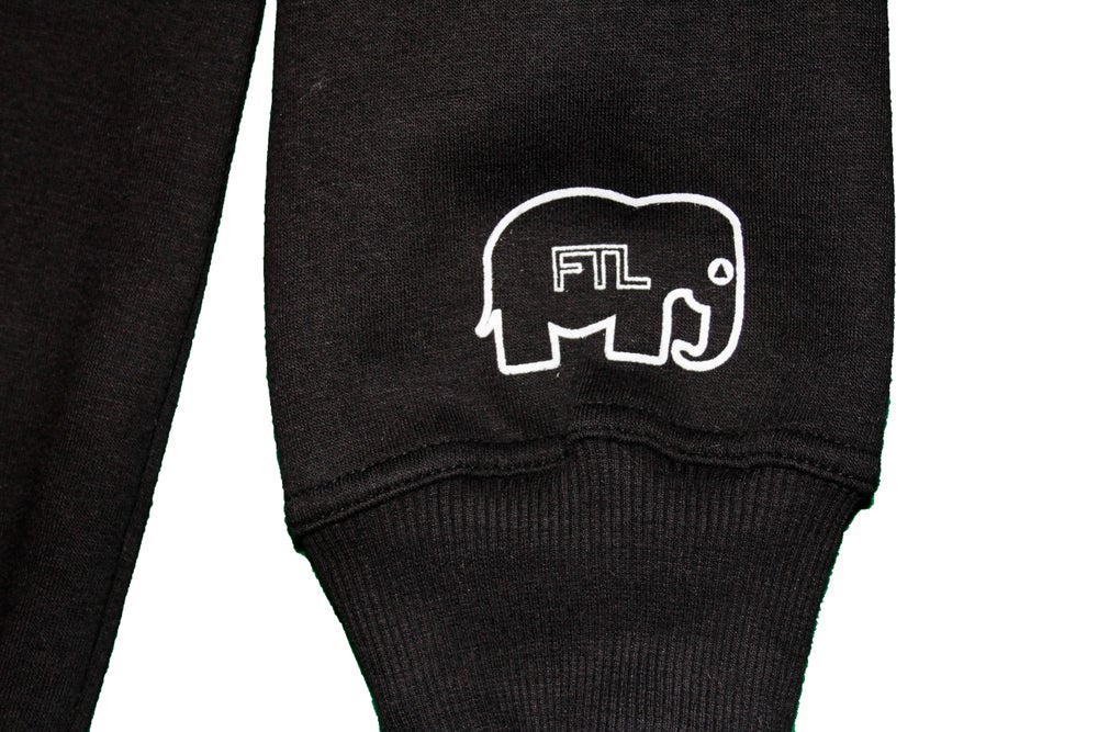 Image of FTLephant Pullover Hooded Sweatshirt (Black)