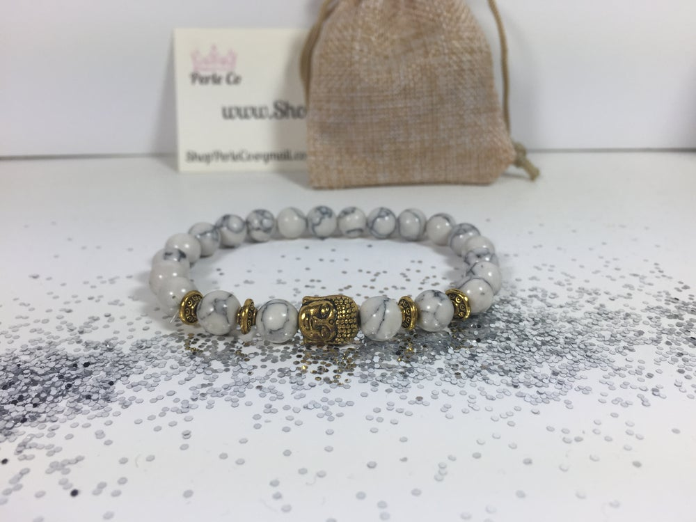 Image of Buddha Bracelet White/Gold