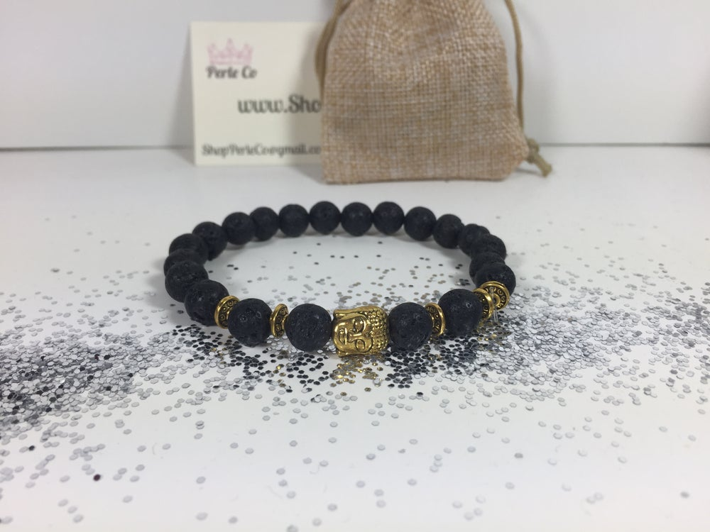 Image of Buddha Bracelet Black/Gold