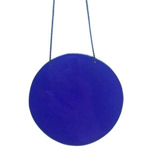 Image of Circle Pendant in Cobalt Blue - Large