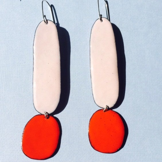 Image of Double Trouble drops - Pink and Tangerine