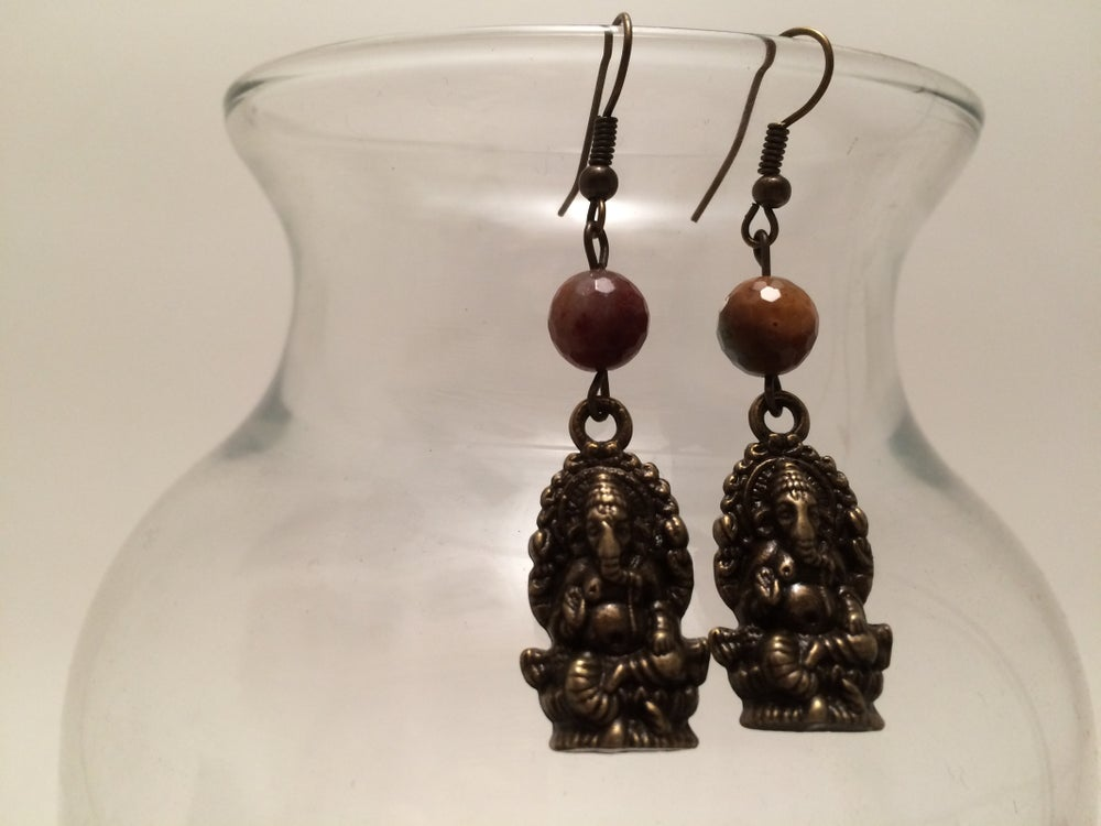 Image of Yoga Gypsy Creations ~ Ganesh earrings