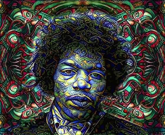 Image of Jimi Canvas Print 30X36~Bowie Virus 24X33 printed Canvas
