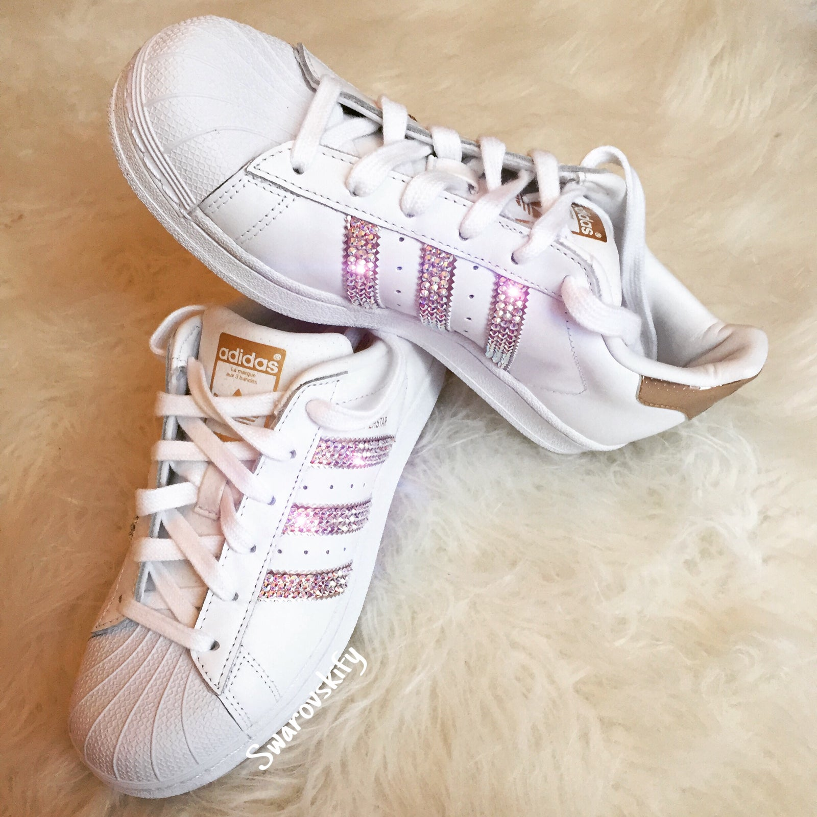superstar bande rose gold