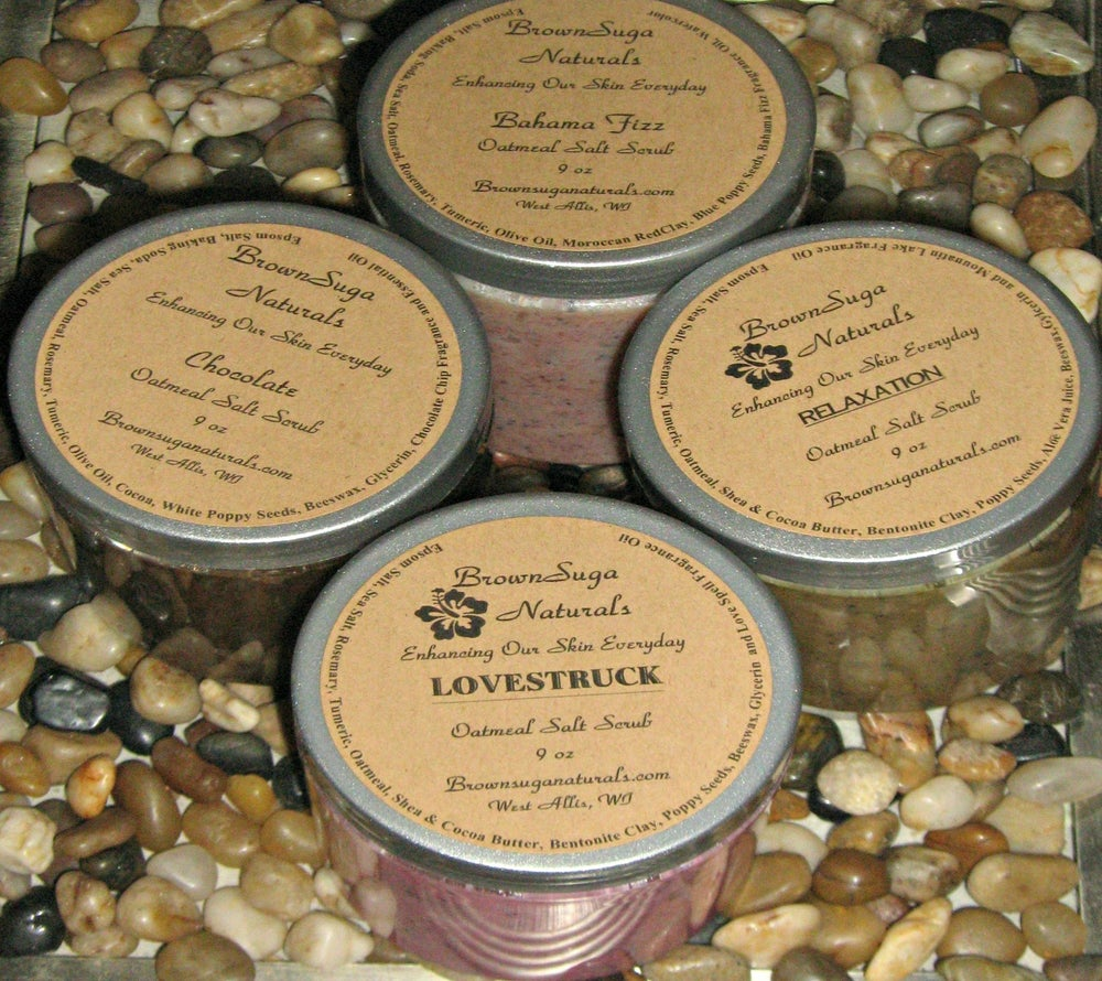 Image of Soothing Oatmeal Salt Scrubs