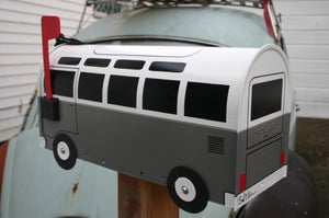Image of 21 Window Made To Order Volkswagen Bus - Grey Mailbox by TheBusBox - Choose Your Color Gray