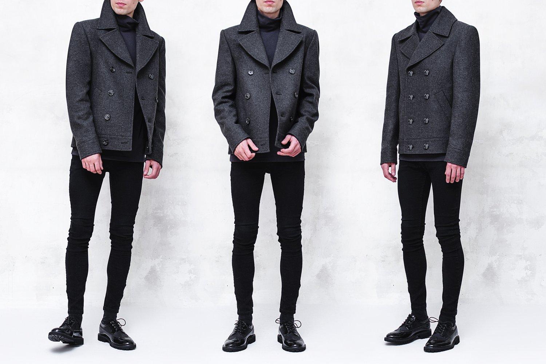 Image of LORCAN | Dark Gray Wool Pea Coat