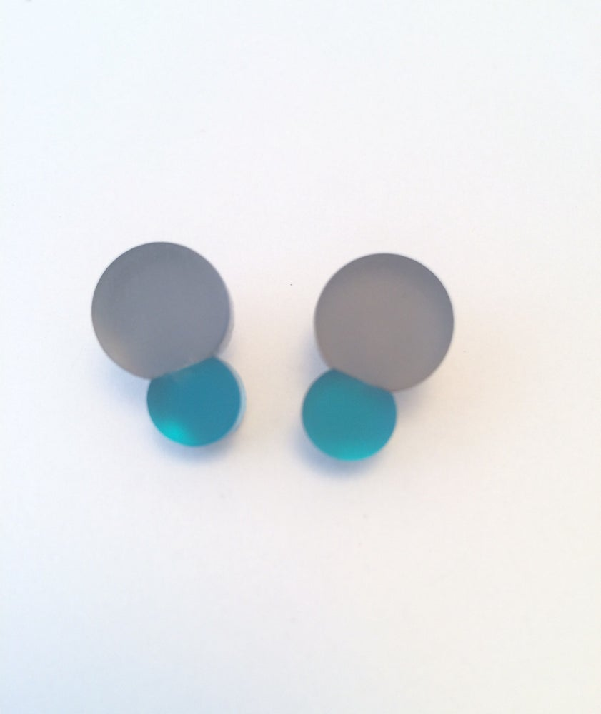 Image of Náušnice / Earrings Bubbles Grey n color