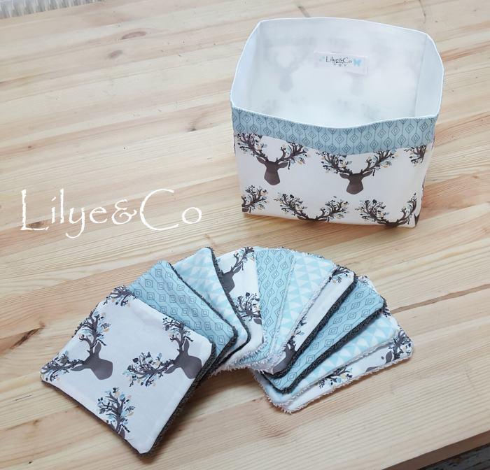 Image of En stock: Lot de 10 Lingettes Lavables.
