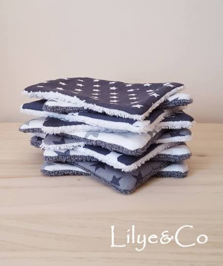 Image of En stock: Lot de 10 Lingettes Lavables.