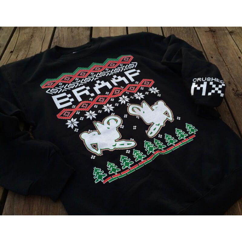 Image of Black Braap Ugly Christmas Sweatshirt