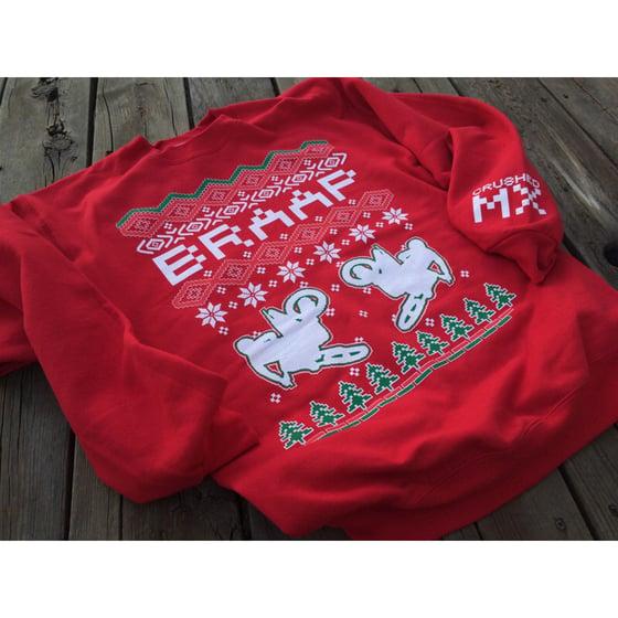 Image of Red Braap Ugly Christmas Sweatshirt