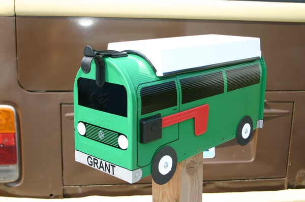 Image of Meadow Green Volkswagen Vanagon Camper Mailbox by TheBusBox VW