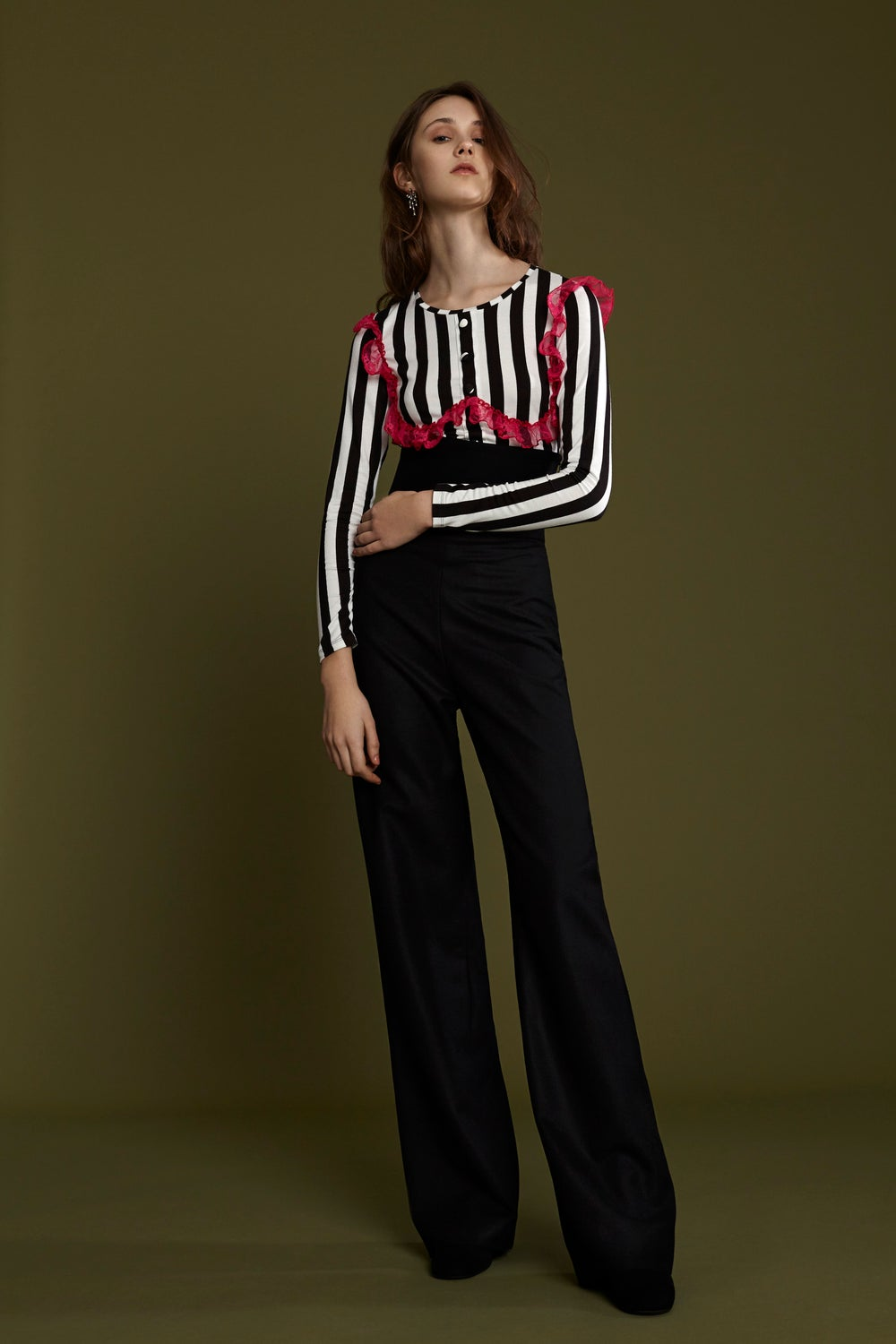 FRAMPESCA WOOL PALAZZO TROUSERS