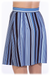 Image of 50% OFF - Pleated Snap Front Skirt - Cobalt Stripe