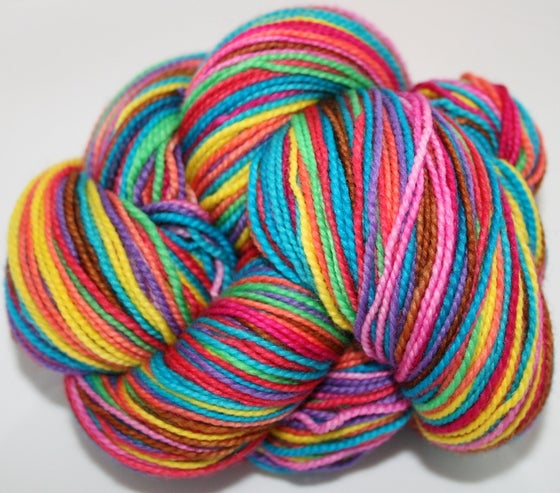 Image of Warm Ten: Superwash Strong Heart, Boot Strap BFL, or sparkly Panache Self Striping Sock Yarn