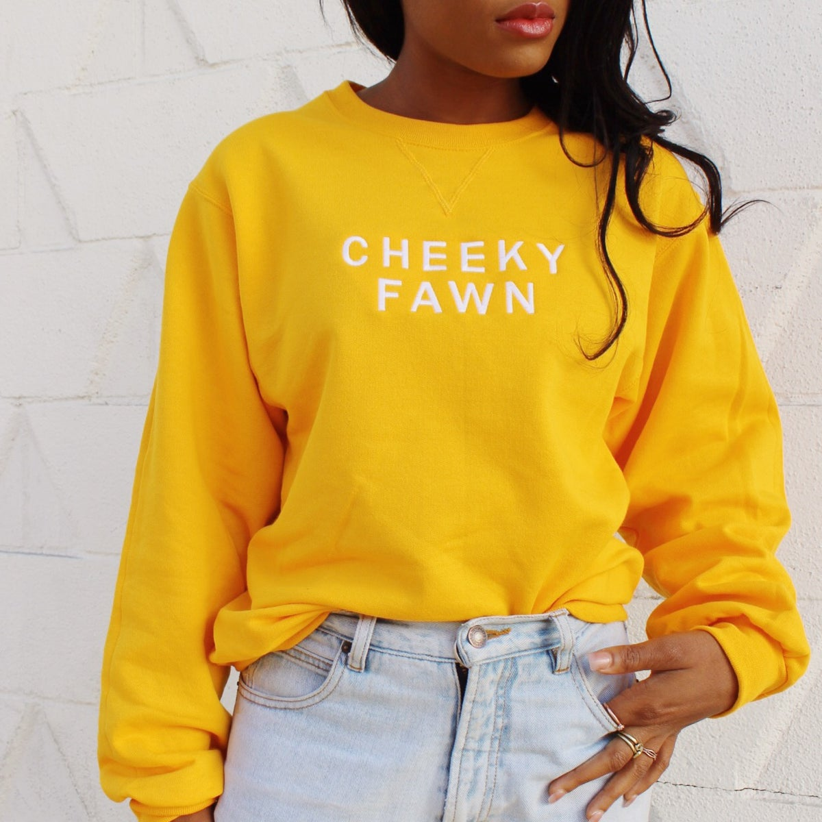 Image of Cheeky Fawn Embroidered Crew