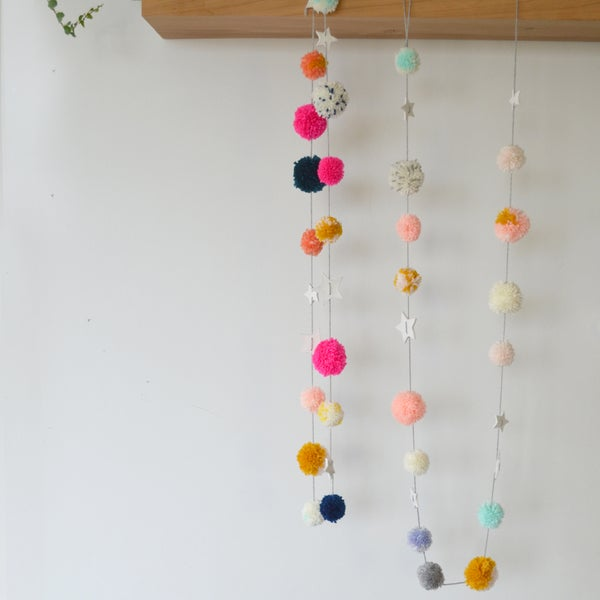 Image of 'Starry eyed poms' garlands