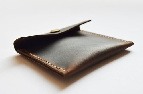 Image of Handmade Genuine Natural Leather Coin Holder, Leather Coin Organizer, Leather Coin Purse B10