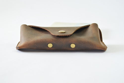 Image of Handmade Genuine Natrual Leather Sunglasses Holder, Glasses Case, Sunglasses Organizer F01