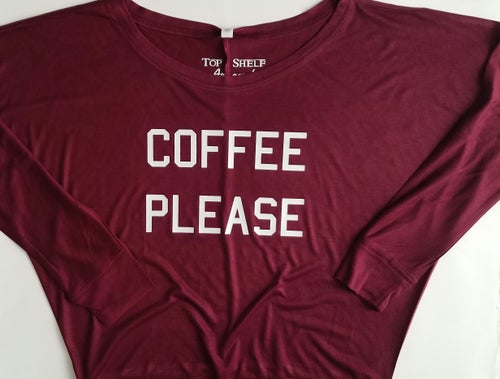 Image of COFFEE PLEASE Flowy L/S tee