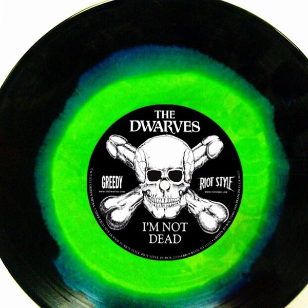 """Image of The Dwarves - We Only Came To Get High 7"""" (Cocaine White / Sour Diesel Pressing)"""