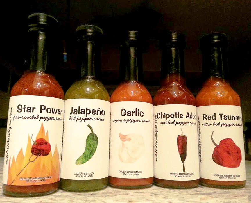 Image of Set of Five Hot Sauces