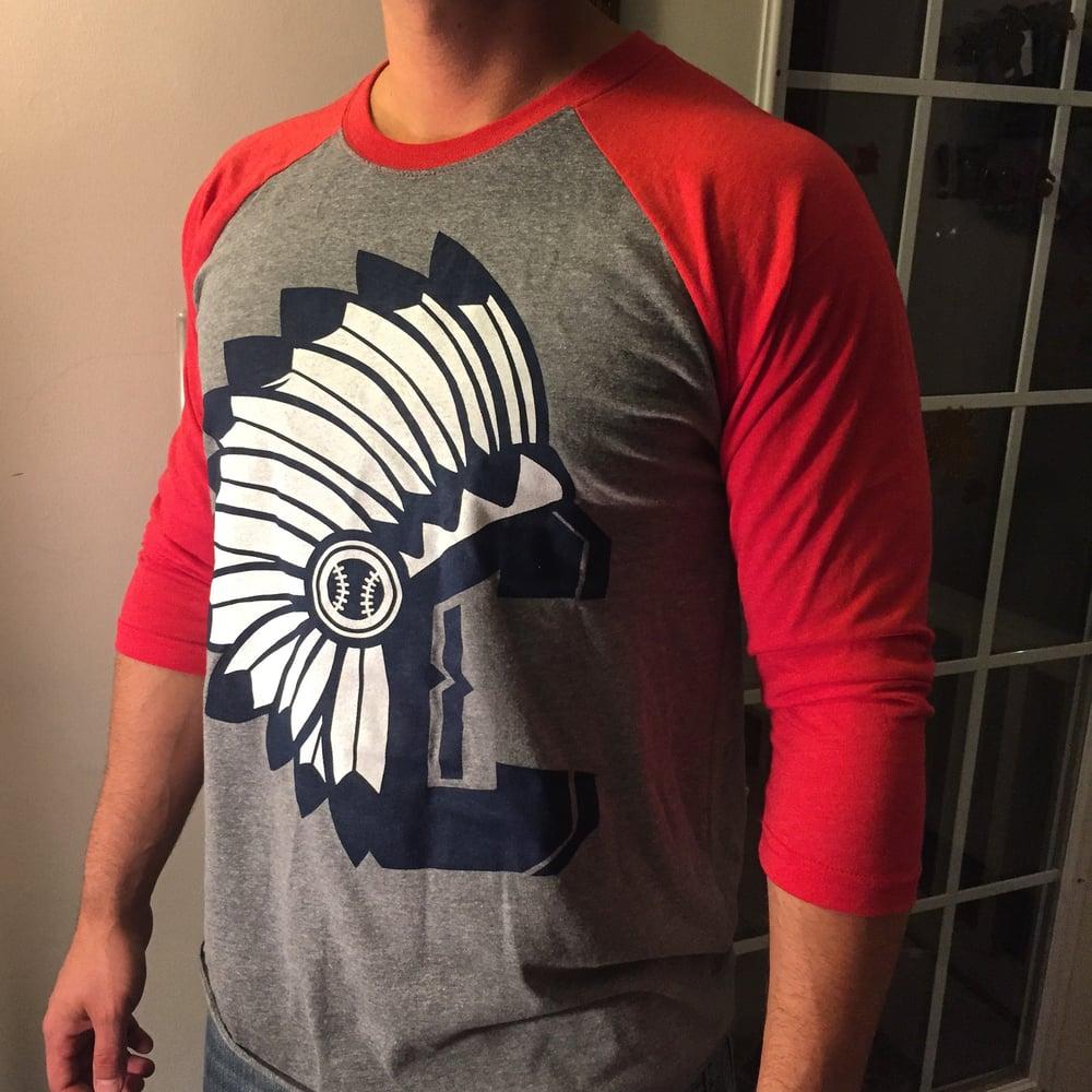 Image of Indians C Red Raglan