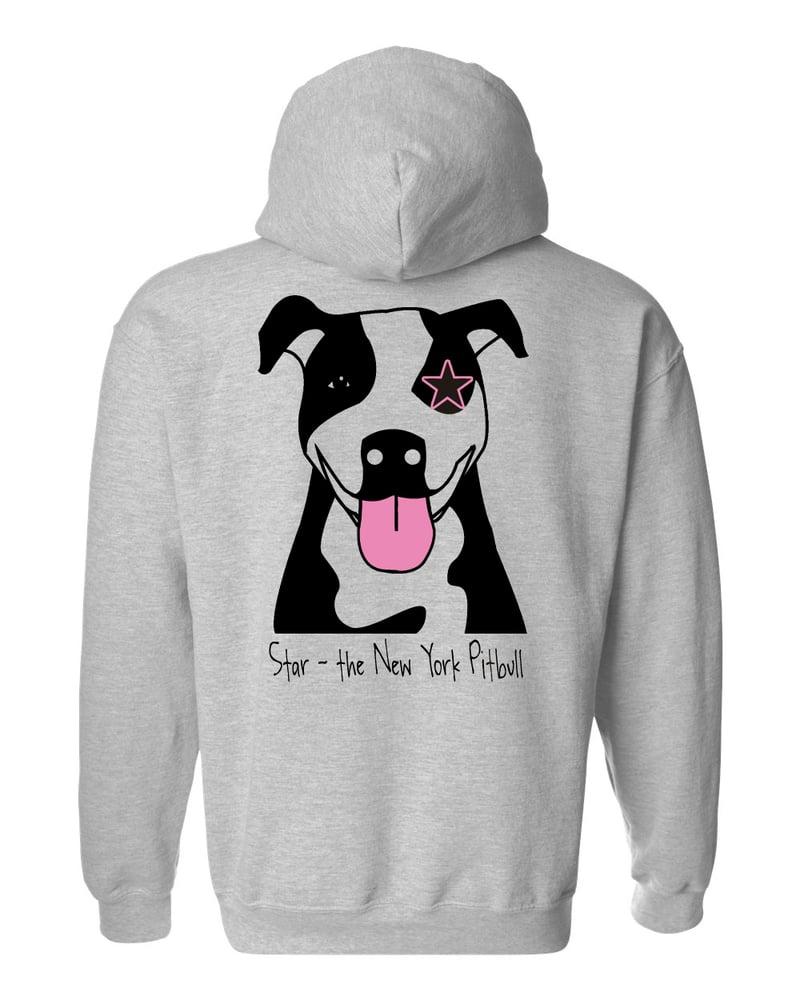 Image of Star Hooded Sweatshirt - Gray