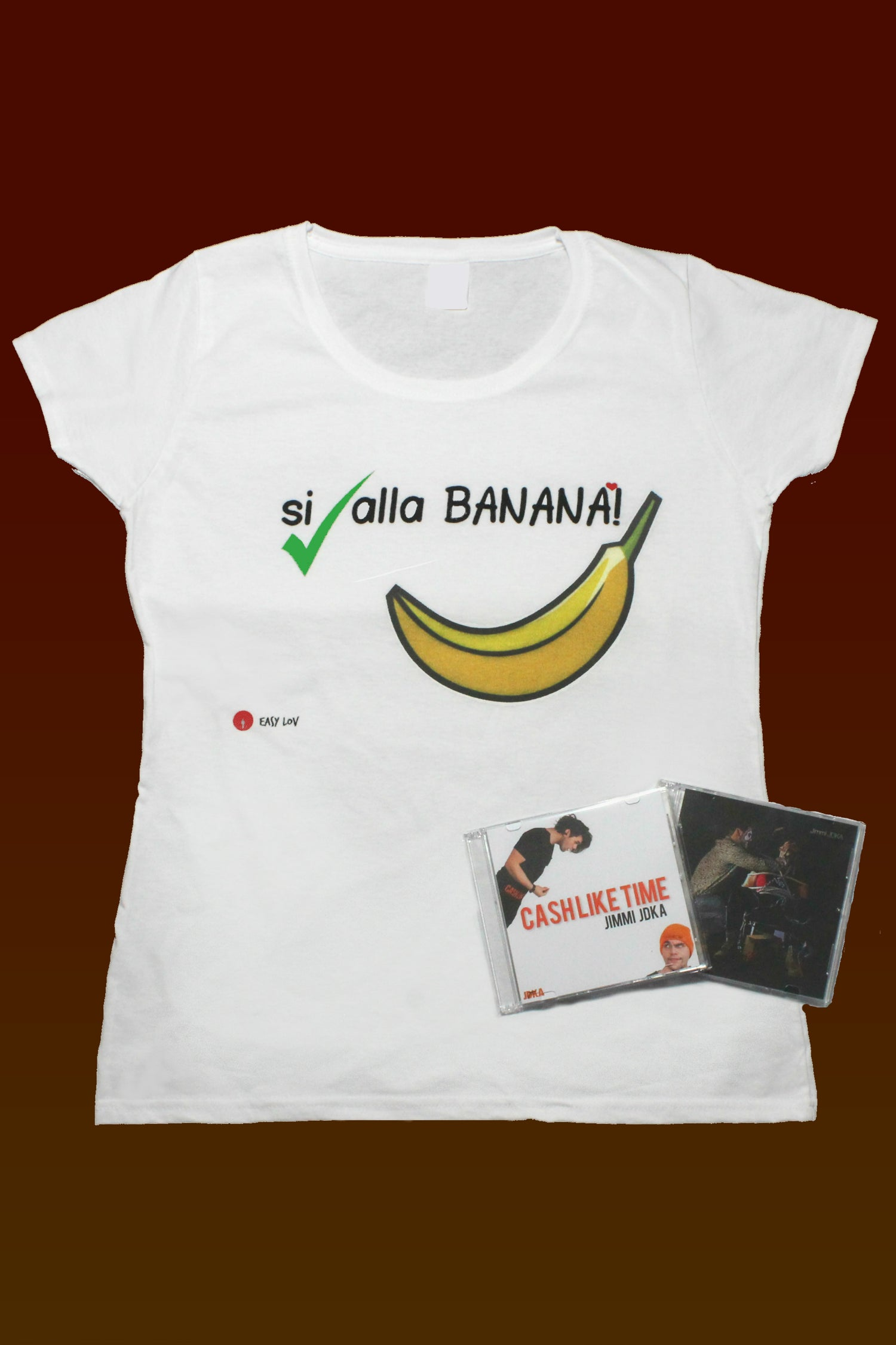"Image of ""SI alla BANANA!"" Lady T-shirt GIFT PACK Easy Lov"