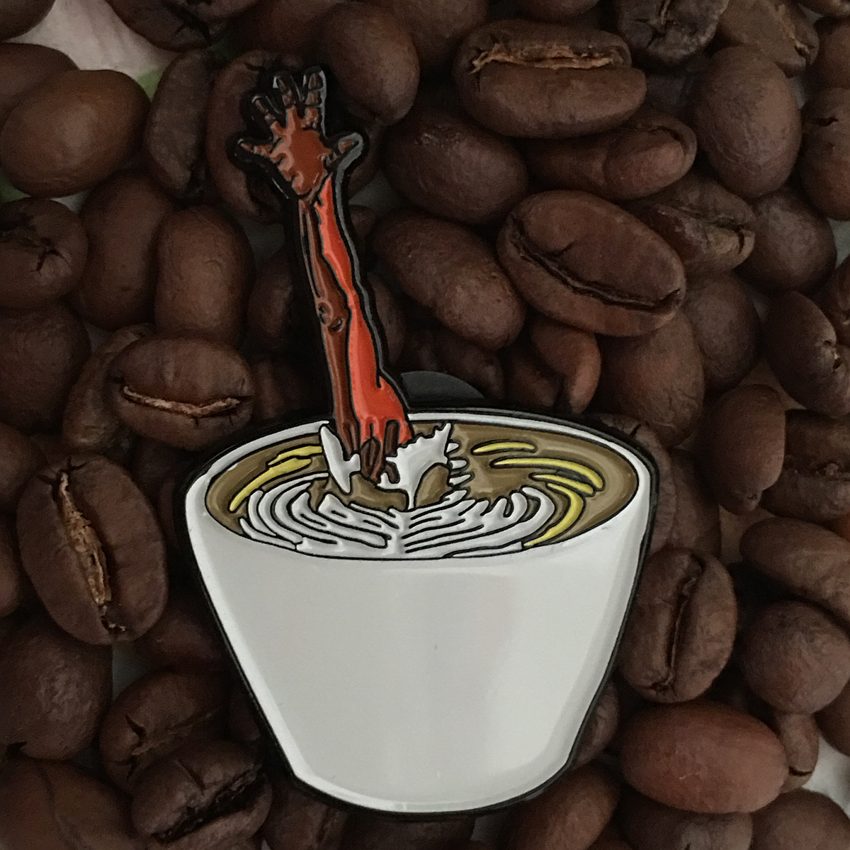 Image of Evil Latte Pin