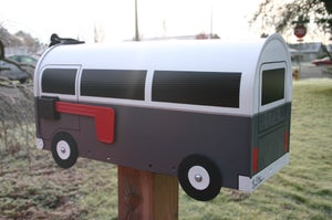 Image of Gray Bay Window Volkswagen Bus Mailbox by TheBusBox - Choose your color VW