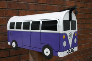 Image of Purple Split Window Volkswagen Bus Mailbox by TheBusBox - Choose your color VW Splitty