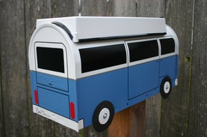 Image of Wildflower Blue Two Tone Bay Window Volkswagen Camper by TheBusBox - Choose your color - VW Westy