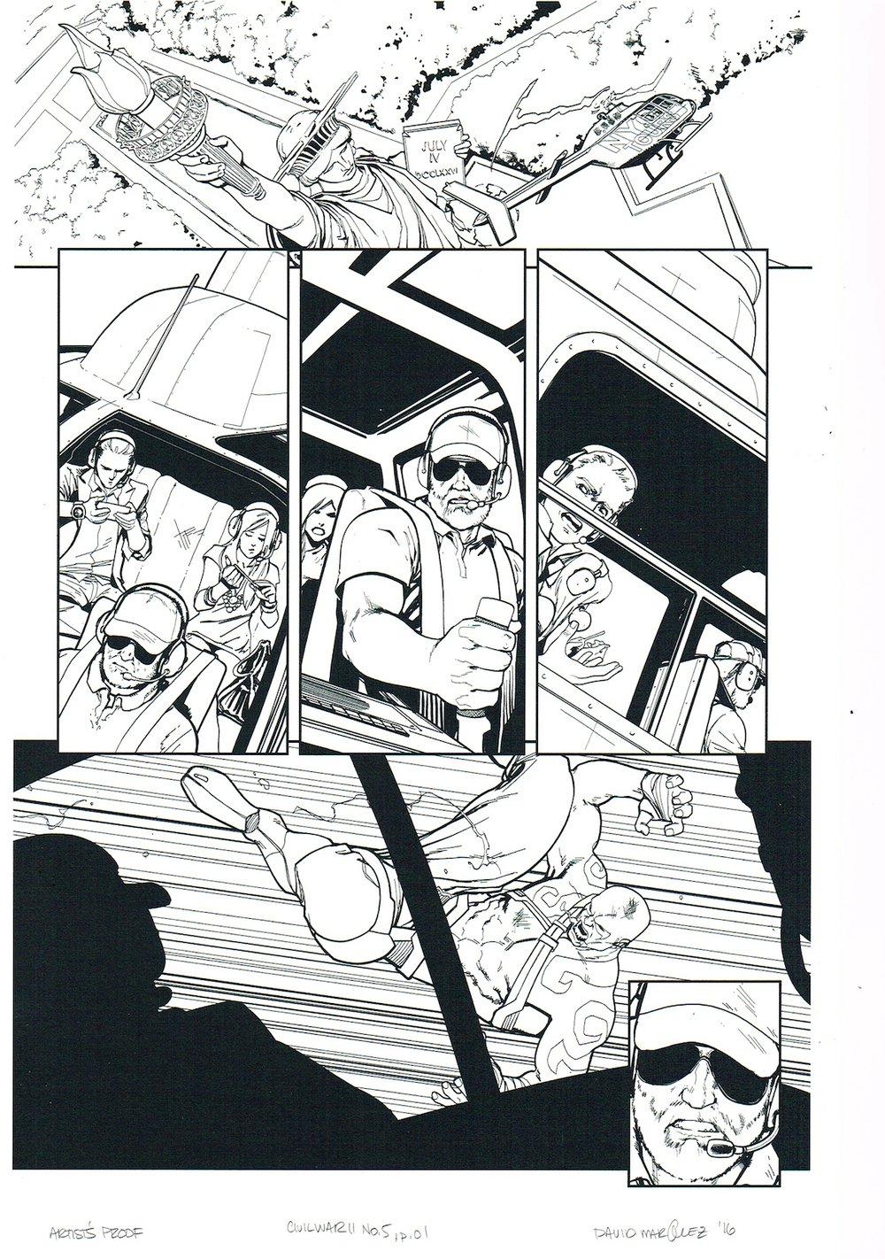 Image of CIVIL WAR II #5, p.01 ARTIST'S PROOF