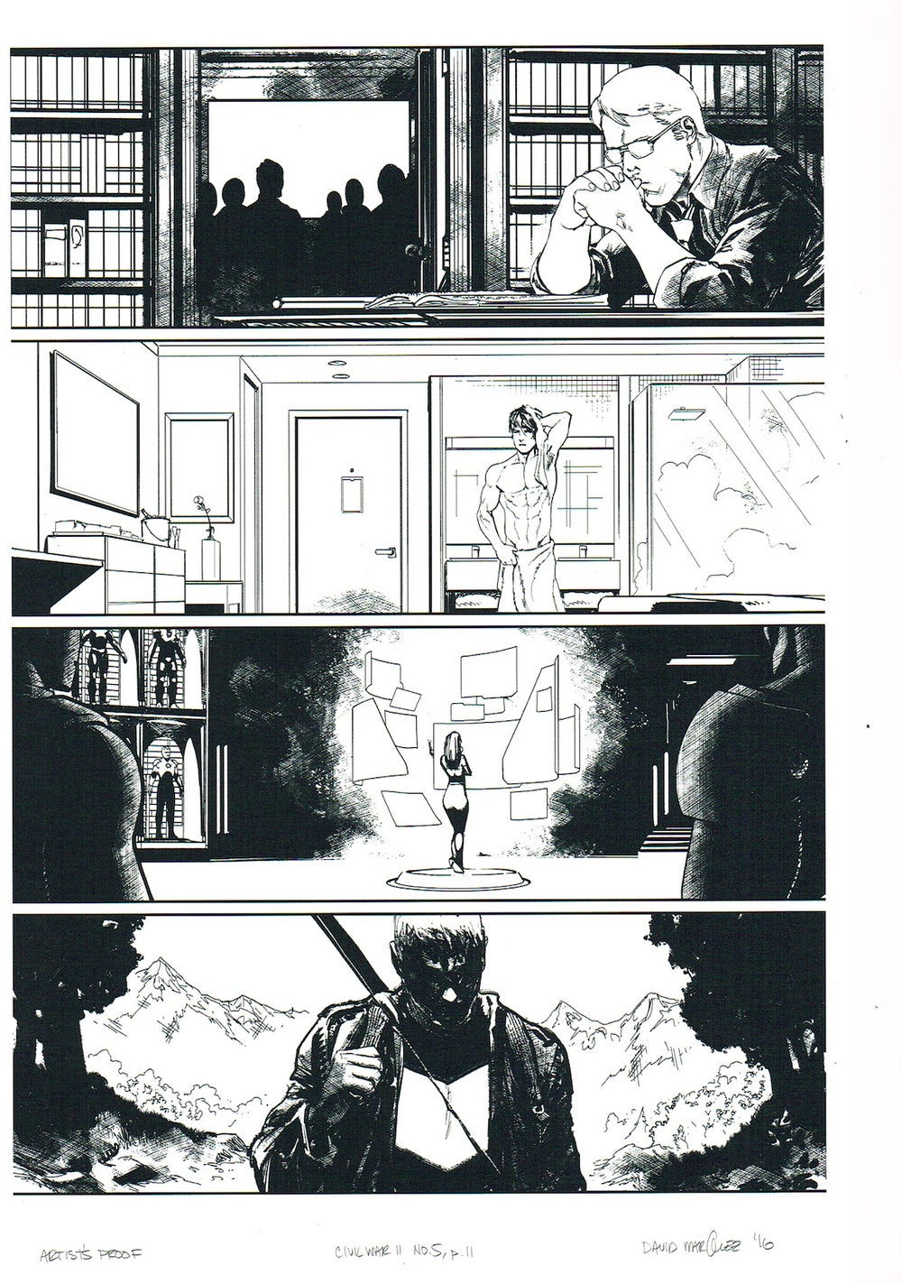 Image of CIVIL WAR II #5, p.11 ARTIST'S PROOF