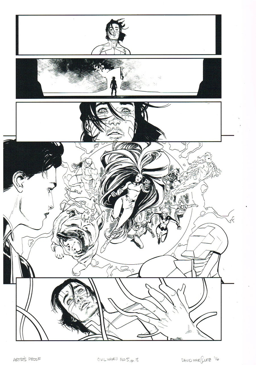 Image of CIVIL WAR II #5, p.18 ARTIST'S PROOF