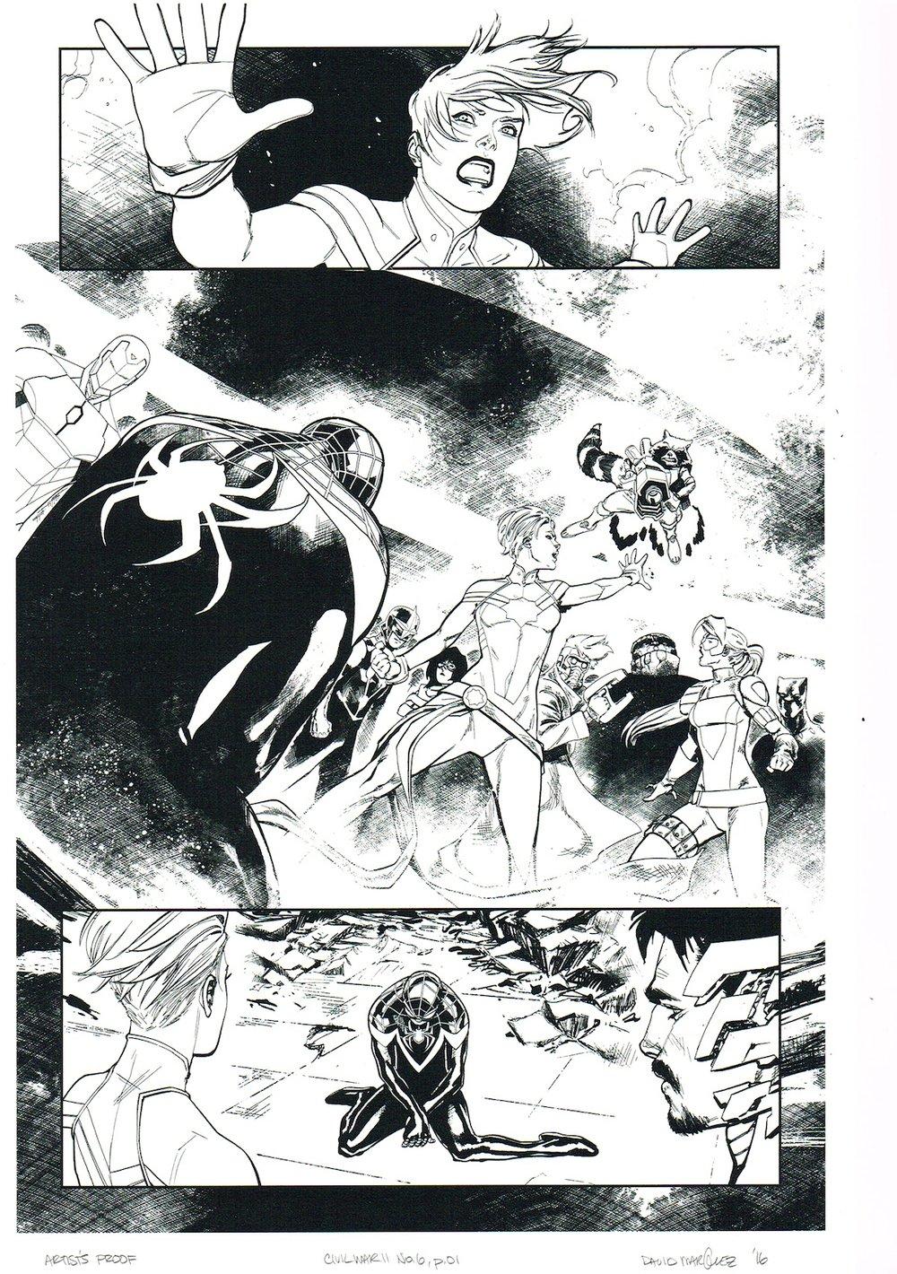 Image of CIVIL WAR II #6, p.01 ARTIST'S PROOF