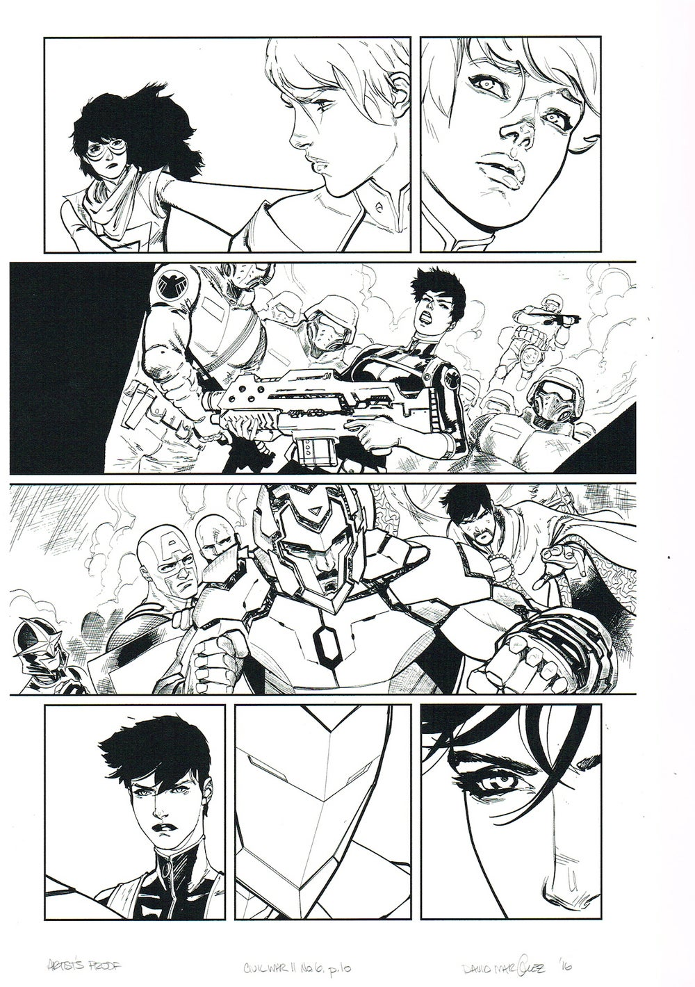 Image of CIVIL WAR II #6, p.10 ARTIST'S PROOF